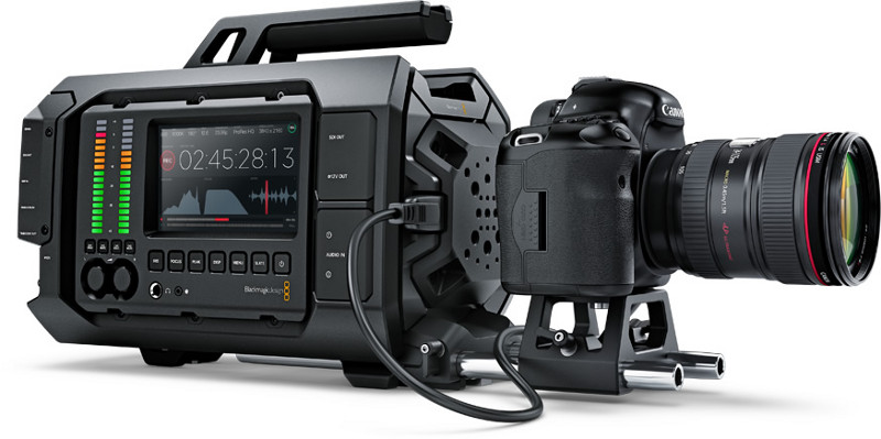 Blackmagic Ursa with DSLR camera
