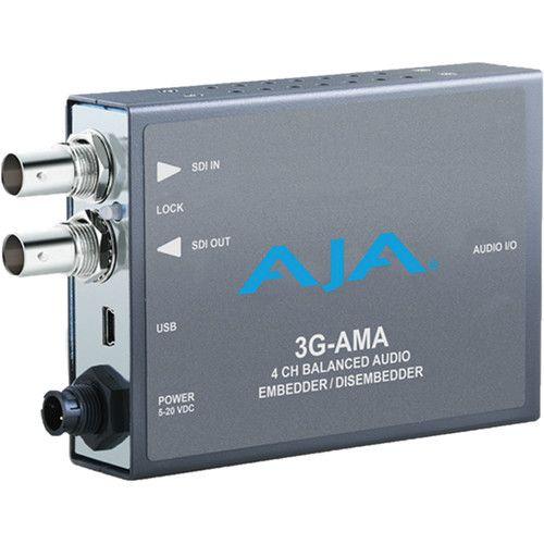 AJA 3G-SDI Analogue Audio Embed/Disembed Mini-Converter