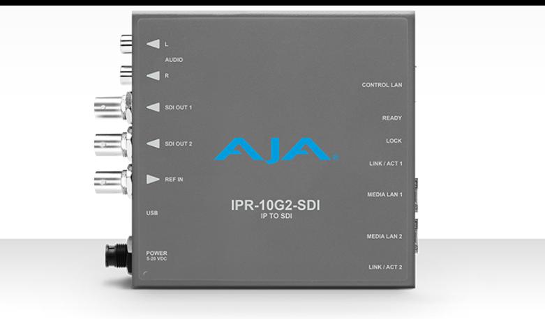 AJA SMPTE ST 2110 AV to 3G-SDI Mini-Converter