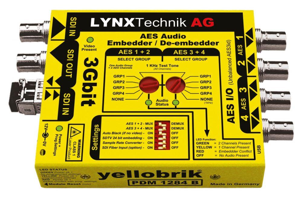 yellobrik 3G-SDI AES Audio Embedder/De-embedder + extras