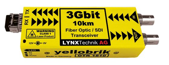 yellobrik 3G-SDI / Fibre Optic Transceiver (SM, LC)