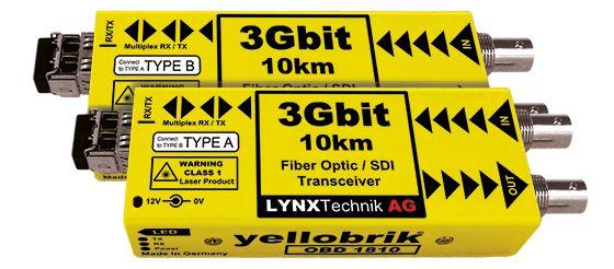 yellobrik 3G-SDI Fibre Transceiver (SM, LC connector)