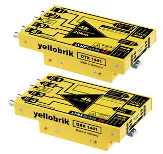 yellobrik 12G Fibre Tx System (SM, LC connector, 20km) - pair