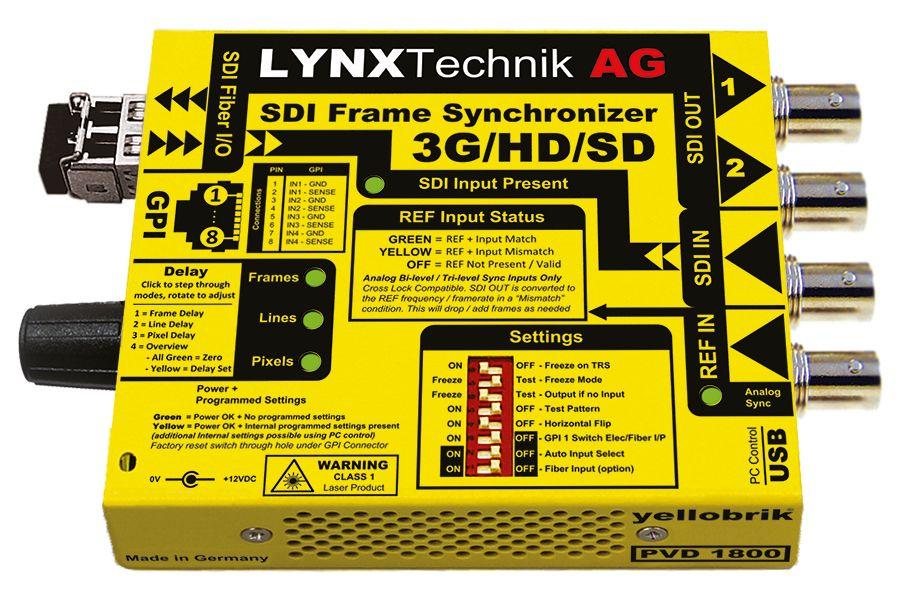 yellobrik 3G-SDI Frame Sync + fibre extras