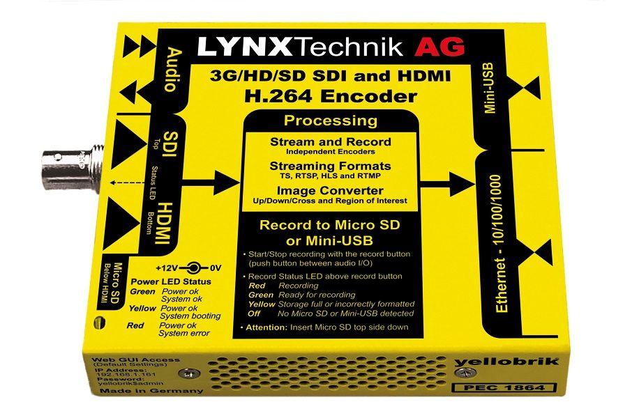 yellobrik 3G-SDI & HDMI H.264 Streamer/Recorder