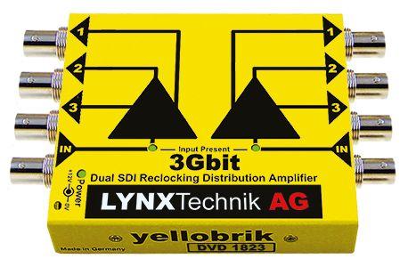 yellobrik 3G/HD/SD-SDI Distribution Amplifier (Dual 1:3)