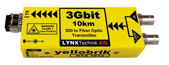 yellobrik 3G-SDI to Fibre Transmitter (SM, LC, 10km)