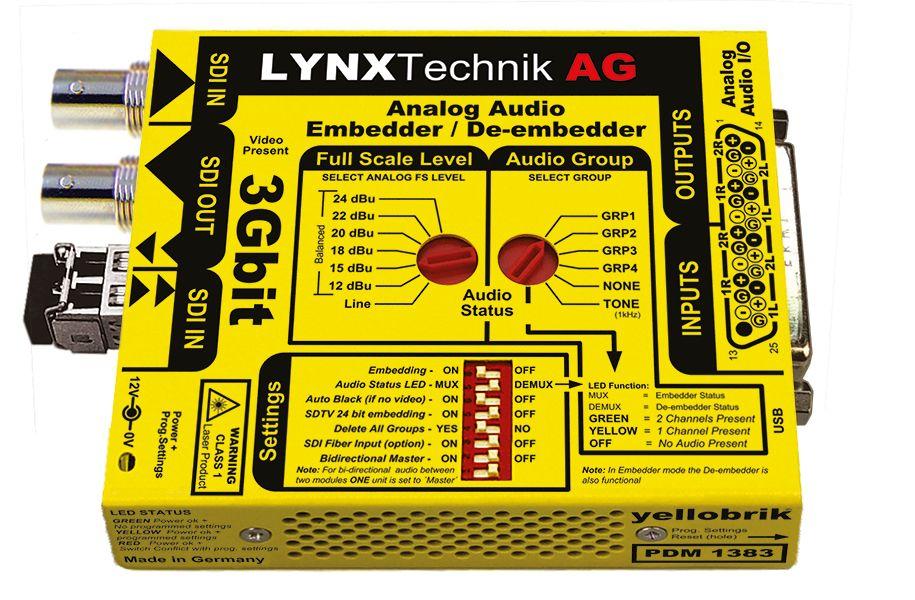 yellobrik 3G-SDI Analogue Audio Embedder/De-embedder + extras