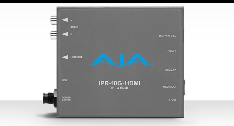 AJA SMPTE ST 2110 AV to HDMI
