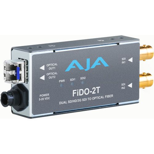 AJA 2-Channel 3G-SDI to SM LC Fibre Transmitter