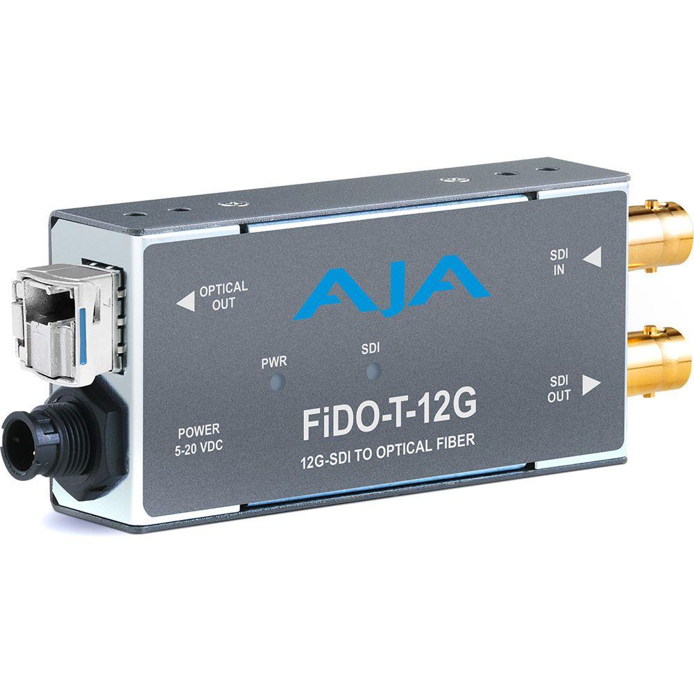 AJA 12G-SDI to SM LC Fibre Transmitter