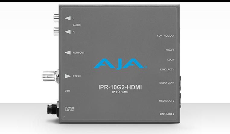 AJA UHD SMPTE ST 2110 AV to HDMI Mini-Converter