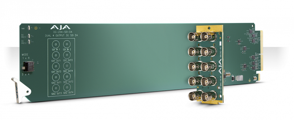 openGear 2x4 or 1x8 3G-SDI Reclocking DA