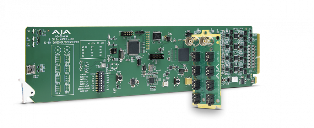 openGear 3G-SDI Analogue Audio Embedder/Disembedder