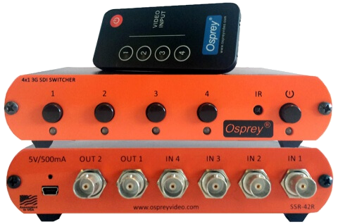 Osprey SSR-42R - Reclocking 3G-SDI 4:1 Switcher with Remote